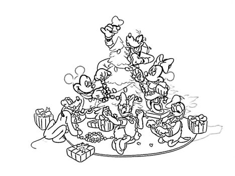 Disney Christmas Coloring Pages Free Printable 74