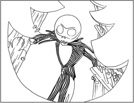 Jack The Pumpkin King Coloring Pages 12