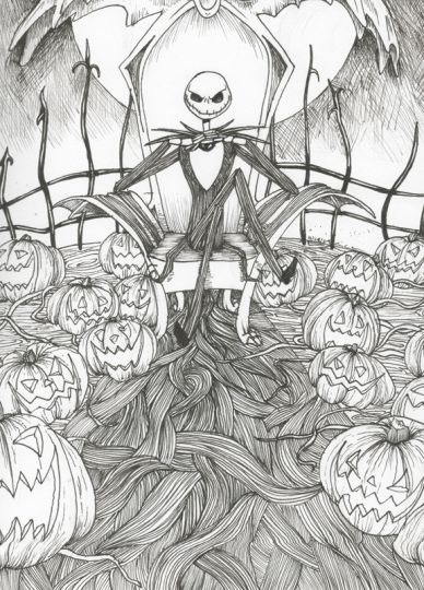 Jack The Pumpkin King Coloring Pages 16