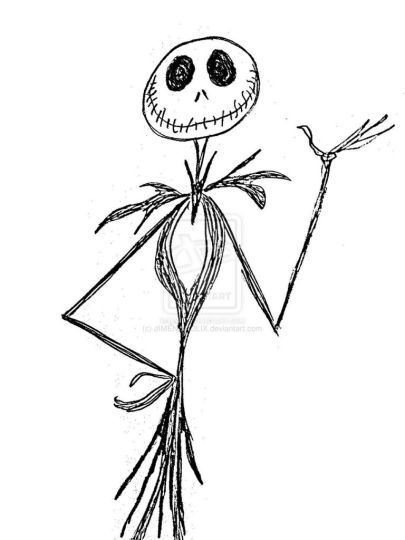 Jack The Pumpkin King Coloring Pages 19