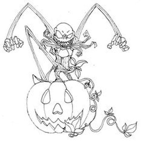Jack The Pumpkin King Coloring Pages 23