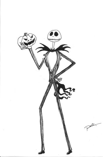 Jack The Pumpkin King Coloring Pages 3