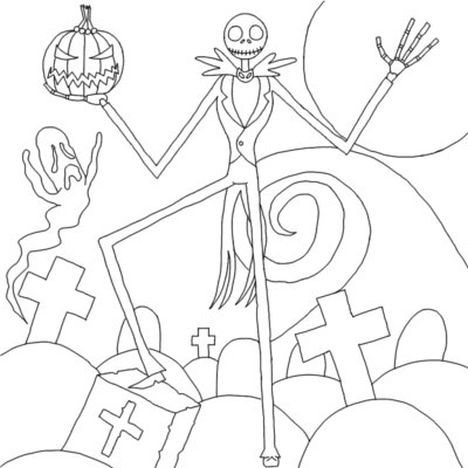Jack The Pumpkin King Coloring Pages 37