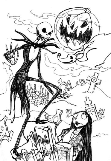 Jack The Pumpkin King Coloring Pages part 1