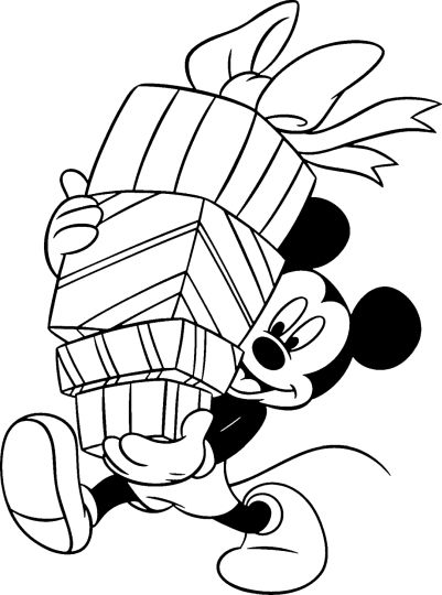 Minnie mouse Christmas coloring pages part 2