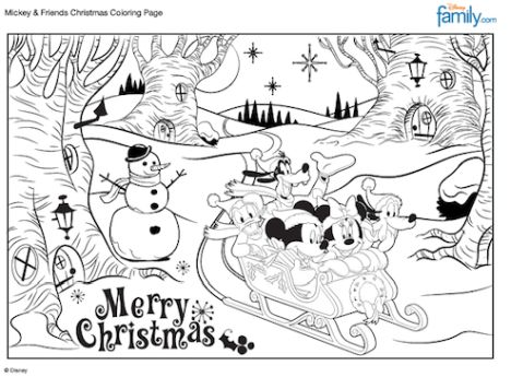 Minnie mouse Christmas coloring pages 14