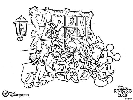 Minnie mouse Christmas coloring pages 22
