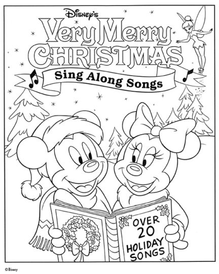Minnie mouse Christmas coloring pages 23