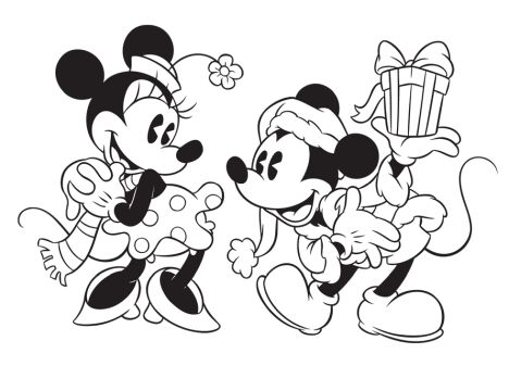 Minnie mouse Christmas coloring pages 24