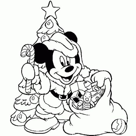 Minnie mouse Christmas coloring pages 27