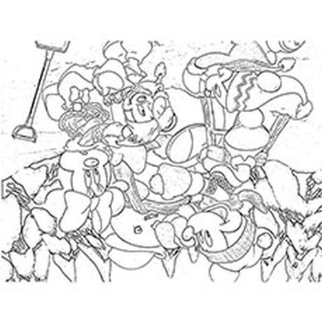 Minnie mouse Christmas coloring pages 28