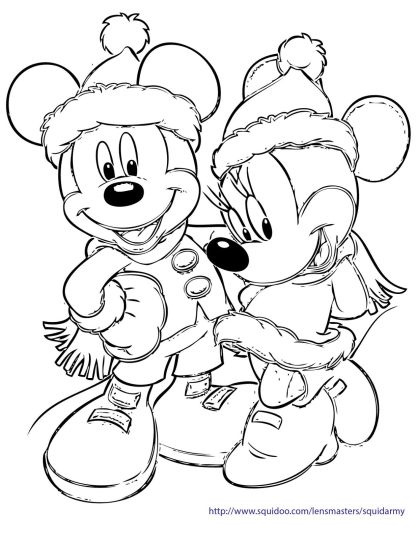 Minnie mouse Christmas coloring pages 35