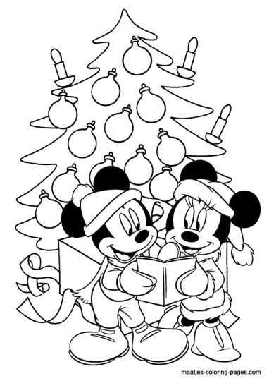 Minnie mouse Christmas coloring pages 46