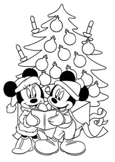 Minnie mouse Christmas coloring pages part 7