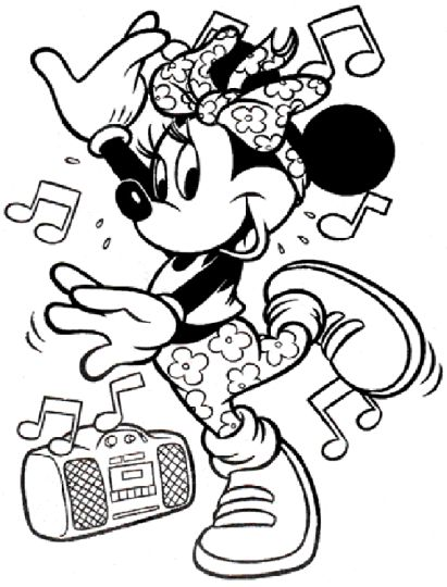 Minnie mouse Christmas coloring pages 70