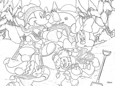 Minnie mouse Christmas coloring pages 71
