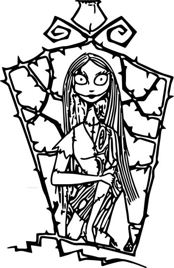 Nightmare before Christmas Jack and Sally coloring pages 20
