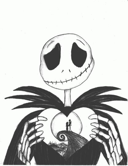 Nightmare Before Christmas Jack And Sally Coloring Pages 6