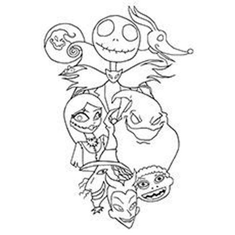 Nightmare before Christmas coloring pages 1