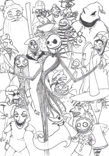 Nightmare before Christmas coloring pages 10
