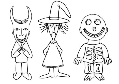 Nightmare before Christmas coloring pages 16