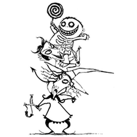 Nightmare before Christmas coloring pages 18