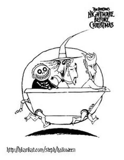 Nightmare before Christmas coloring pages 20