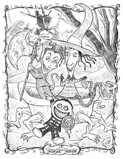 Nightmare before Christmas coloring pages 22
