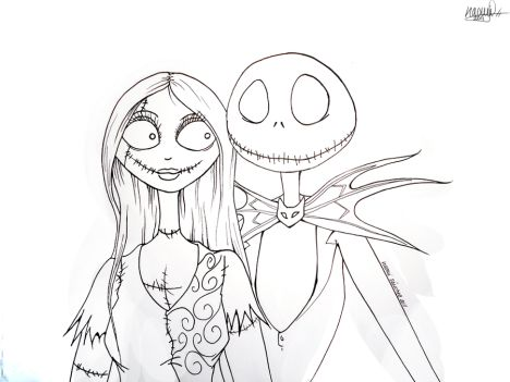 Nightmare before Christmas coloring pages 23