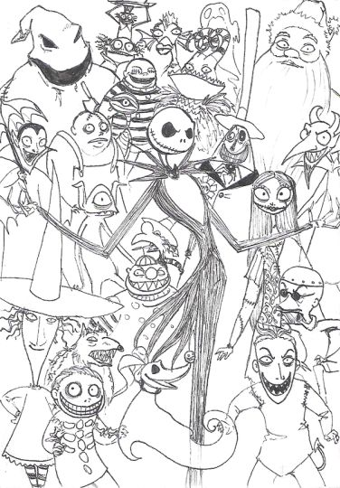 Nightmare before Christmas coloring pages 24