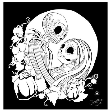 Nightmare before Christmas coloring pages 4