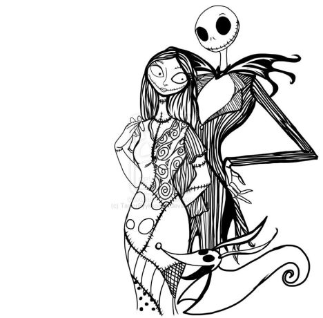 Nightmare before Christmas coloring pages 7