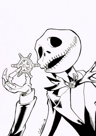 Nightmare before Christmas coloring pages 9