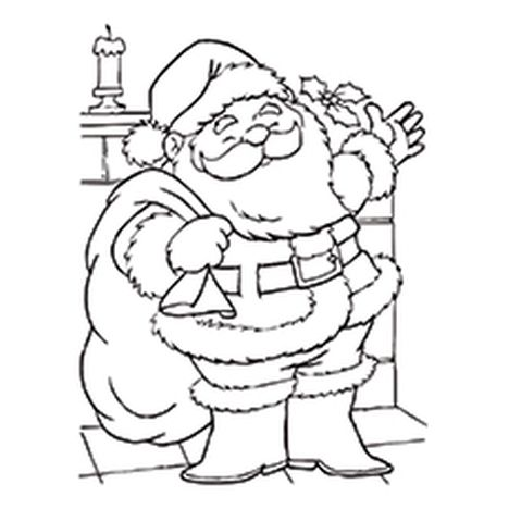 Santa Claus Colouring Pages 1