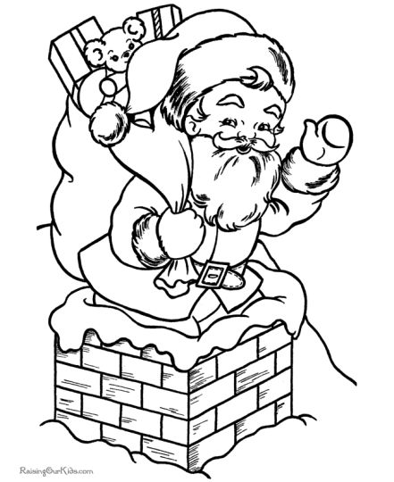 Santa Claus Colouring Pages 113