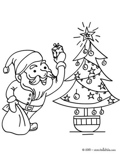 Santa Claus Colouring Pages 114