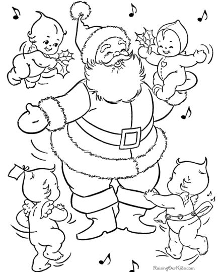 Santa Claus Colouring Pages 115