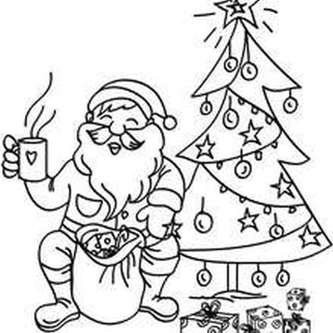 Santa Claus Colouring Pages 117