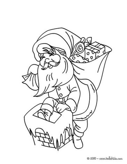 Santa Claus Colouring Pages 118