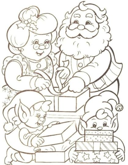 Santa Claus Colouring Pages 119