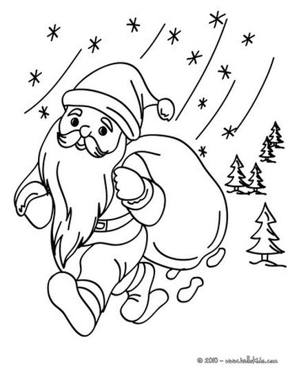Santa Claus Colouring Pages 120