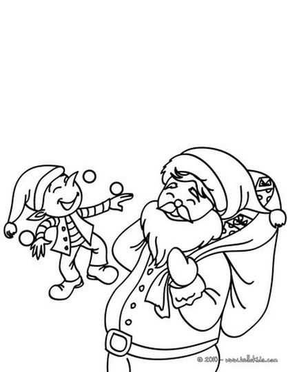 Santa Claus Colouring Pages 121