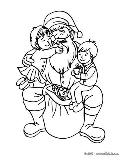 Santa Claus Colouring Pages 122