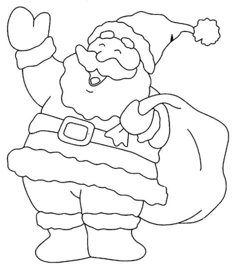 Santa Claus Colouring Pages 123
