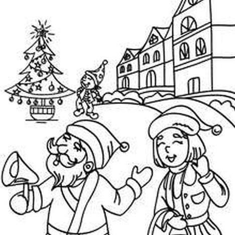 Santa Claus Colouring Pages 124