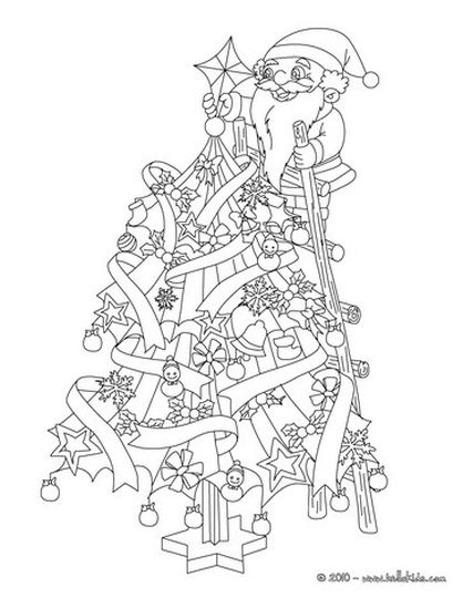 Santa Claus Colouring Pages 125