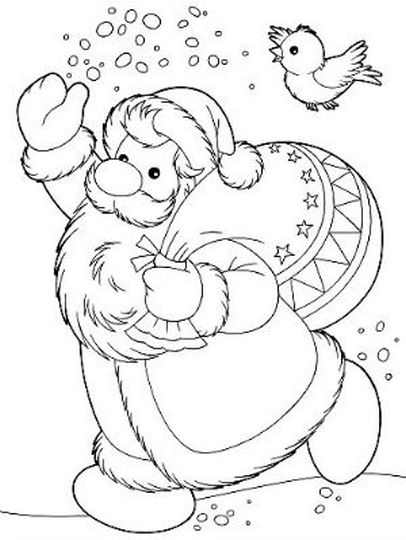 Santa Claus Colouring Pages 127