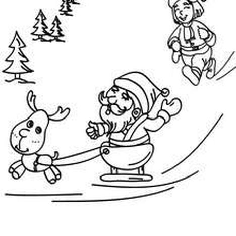 Santa Claus Colouring Pages 128
