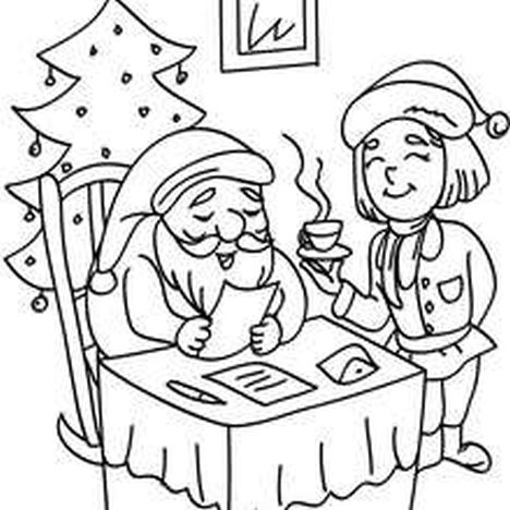 Santa Claus Colouring Pages 129