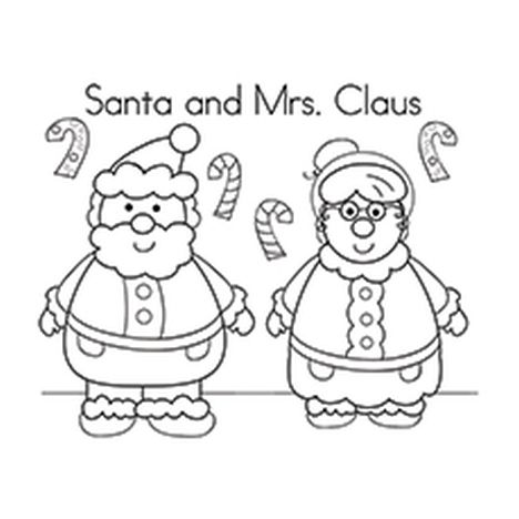 Santa Claus Colouring Pages 13